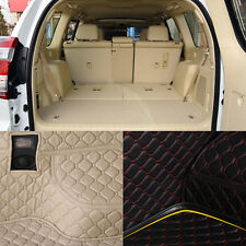 PU Leather Rear Trunk Cargo Liner Protector Mat Seat Back Cover For Toyota Prado