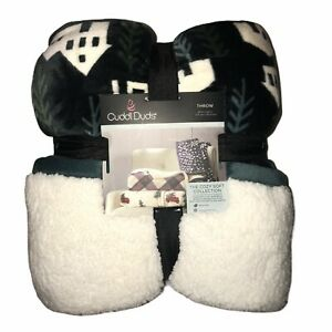 """NWT Cuddl Duds Reversible House Throw 50""""X60"""""""