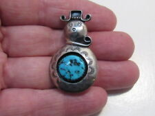 native American sterling  turquoise pin Arnold & Carleena Goodluck