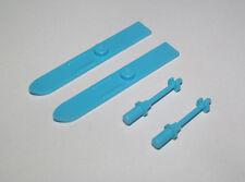 Lego ® Lot Accessoire Minifig Sport Paire de Ski + Battons Blue Azur 18744 18745