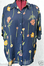 **CALLAN** Made in QLD AUS Floral Chiffon Button Down Blouse Padded Shoulders