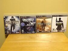 Playstation 3 - Four Game Call of Duty Lot - World at War, Ghosts, MW2 & MW3