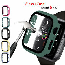 9H Tempered Glass Screen Protector Curved Case For iWatch Apple Watch 5 4 3 2 1