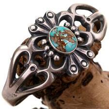 Native American Turquoise Bracelet Sterling Silver CAST Harrison Bitsue Vintage