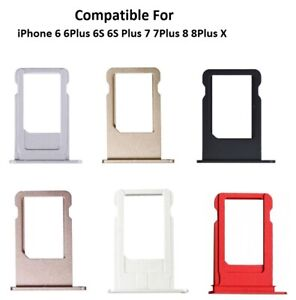 Sim Card Tray Holder Slot Replacement For iPhone 6 6Plus 6S 6S Plus 7 7Plus 8 8+