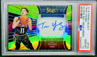 Trae Young 2018-19 Panini Select Neon Green Prizm Rookie RC Auto /99 PSA 10