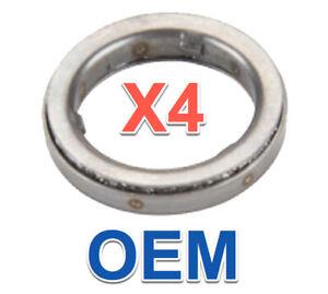 4 Fuel Injector Decouplers (Decoupling Elements) BMW OEM 13537577649