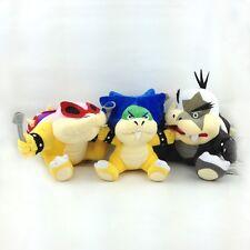 "3X Super Mario Bros Koopalings Roy Ludwig von Morton Jr. Koopa Soft Plush Toy 7"""