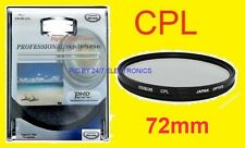 72mm CPL 72 mm C-PL POLARIZED FILTER CANON XL2 XL1 XL2E XL1E 28-135mm 28-200mm