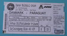 old TICKET * Denmark - Paraguay in Aarhus 2006