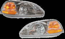 96 97 98 Civic Left & Right Headlamp Headlight Lamp Light Pair L+R