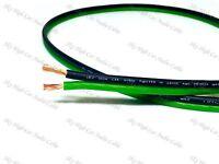 100' feet TRUE 14 Gauge AWG GREEN/BK Speaker Wire Car Home Audio ft GA