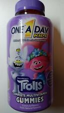 One A Day Kids Trolls Complete Multivitamin Gummies 180 Count Expires 11/2021