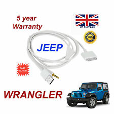 JEEP Wrangler Adattatore Multimediale iPhone iPod USB & AUX CABLE (Bianco)