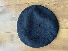 Boina Sombrero Francés Gris Oscuro Damas Lana-en muy buena condición