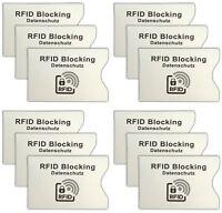 12 Stück RFID Schutzhüllen | Personalausweis Schutzhülle | EC-Karte Hülle