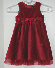 SIGNATURE NEXT Size 12-18 Months Red Velour Sequin Accents Sleeveless Dress