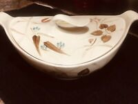 Red Wing Pottery Random Harvest Futura Covered Serving Bowl with Handles & Lid