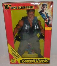 "DIAMOND TOYMAKERS 1986 COMMANDO/ARNOLD SCHWARZENEGGER 16"" Super Figure NEW/MIB"