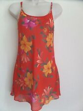 Victoria Secret Size XS Lingerie Top Floral Pattern Orange Sleepwear Pajama