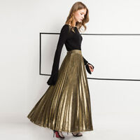 Fashion Women Girl Party Dress Skirts High Waist Pleated Long Maxi Boho Cocktail