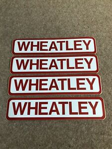 4 Wheatley Trailer Stickers