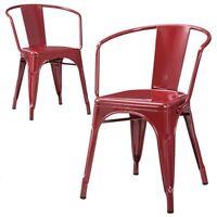 Carlisle Metal Dining Chair   Distressed Metal (Set Of 2)