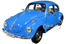 VOLKSWAGEN BEETLE BLUE 1/24-1/27 DIECAST MODEL CAR BY WELLY 22436