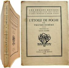 L'étoile de poche 1929 Tristan Derème gravure Sacha Klerx Ed Originale ex. n°272