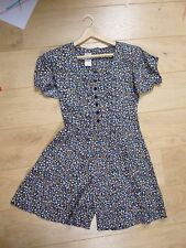 true vintage  floral  summer/tea/festival/boho  playsuit size S/M