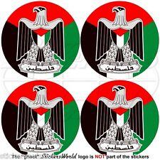 PALÄSTINA Roundels, Palästinensische Stoßstange Helm Sticker, Aufkleber 50mm x4