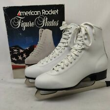 Women Ladies Ice Figure Skates American Rocket Size 10 Style 520 ~ Excellent