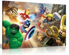 Lego The Avengers Canvas Wall Art Picture Print