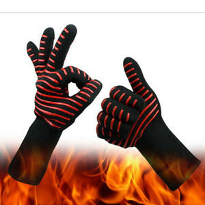 Heavy Duty Oven Mitts Microwave Stove Gloves Hands Fingers Mitten Protectors