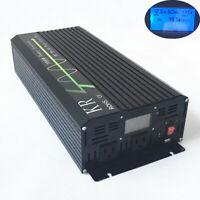 2000W Pure Sine Wave Car Power Inverter 12V DC to 120V AC 60HZ LCD Display USB