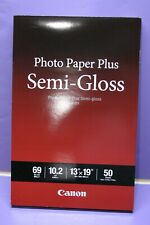 "Canon Pixma Photo Paper Plus, Semi-Gloss, 13"" x 19"" Letter, White"
