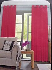 "NEW NEXT RASPBERRY PINK SOFT TWILL LINED EYELET CURTAINS 168 x 229CM  (66""x 90"")"