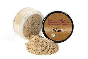 WARM FOUNDATION Mineral Makeup Matte Jar Bare Skin Sheer Natural Powder Cover
