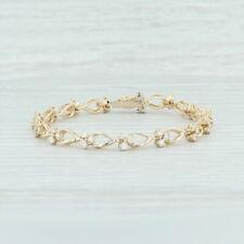 "3.25ctw Diamond Cluster Bracelet - 14k Yellow Gold 7"" 6mm Round Brilliant"