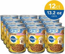 Pedigree Puppy Dinner Wet Canned Dog Food Chicken&Beef 13.2 oz Can (Pack of 12)