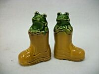 Vintage Frogs in Boots - Salt and Pepper Shakers