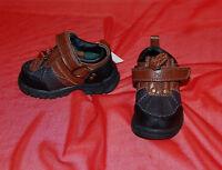 NEW Polo Ralph Lauren Boys brown black leather zip shoes size 5 T M