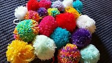 Handmade Large Wool Pompoms (approx 8cm) x 10 - many colours available