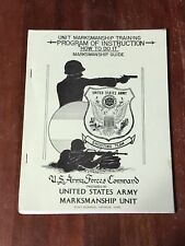 Us Army Forces Unit Marksmanship Training Instruction Guide Shooting Team