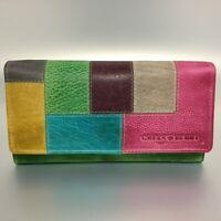 Greenburry Damen Geldbörse Leder Portemonnaie Candy grün bunt 862-77