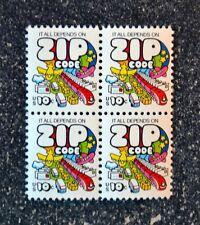 1974USA  #1511  10c Mail Transport Zip Code - Block of 4  Mint  NH