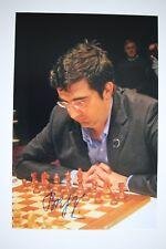 Gm vladimir kramnik signed foto autógrafo Autograph ip4 Grandmaster Chess