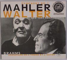 MAHLER: Symphony No. 1, Bruno Walter, Brahms MASTERWORKS Heritage Digipak CD