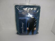 West Loop Men's Two Piece Thermal Underwear Set Blue Large New!!!