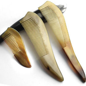 1 Pcs Ox Horn Anti-static Unique Hair Comb Brush Health Natural Massage Comb New